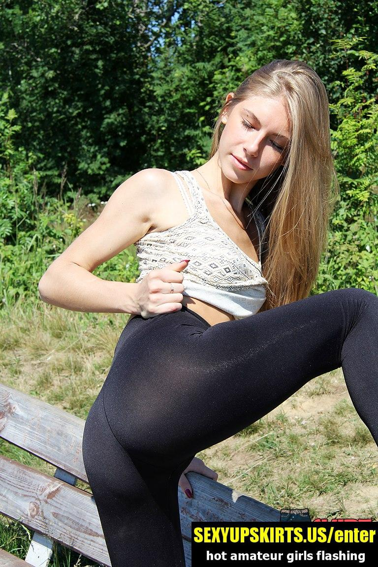 Amateur girls in spandex